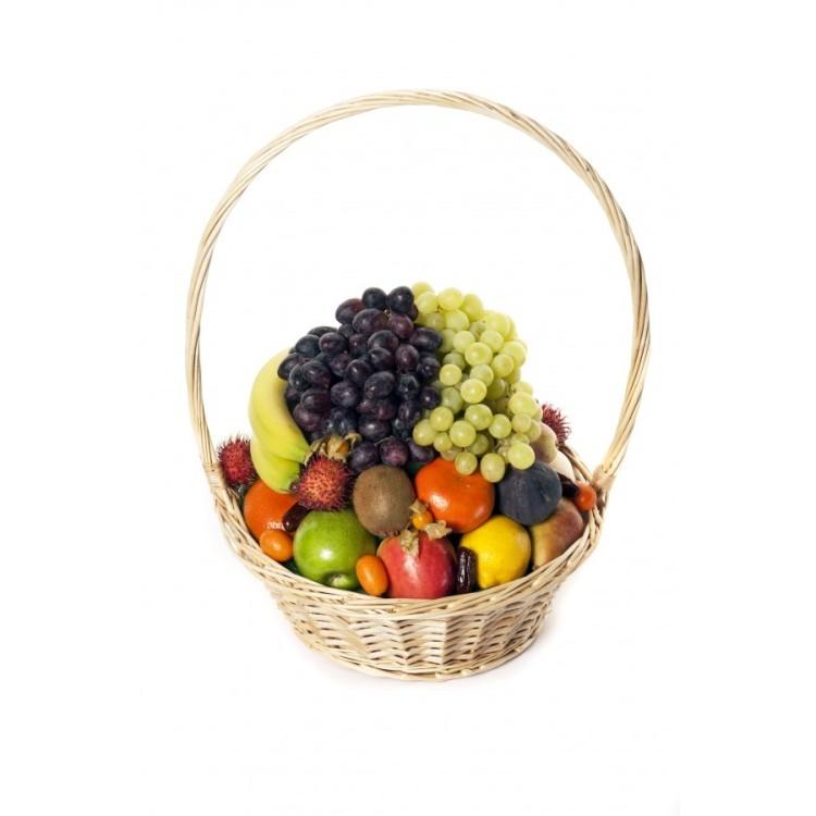 Корзина с фруктами в подарок пошагово